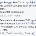 Kristin, Lulus Tes CAT TKD